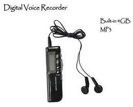 Wholesale Digital Voice Recorder Phone - SK-010 Brand New Voice Activated 4GB Digital Voice Recorder Recording Dictaphone Phone Record For Meetings Record