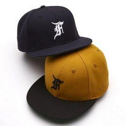 Wholesale Fitted Hats Baseball Caps - FEAR OF GOD FOG Hat Baseball Cap Flat Brimmed Hat Justin Bieber Fahion Hip Hop Hight Street HFMZ001
