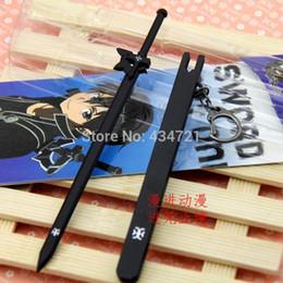 Wholesale Weapon Online Game - New Hot Game Anime Pendant Sword Art Online Kirigaya Kazuto Weapon Elucidator Sword Metal Model Key Chain
