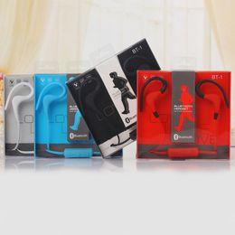 Wholesale Bluetooth Headset For Computer - BT-1 Newest Sport wireless Bluetooth 4.1 headphones earphone headset in ear auriculares bluetooth for Sports phones computers