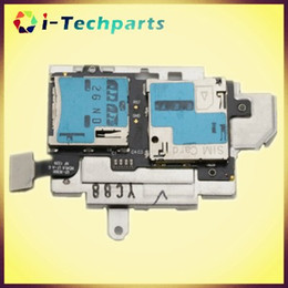 Wholesale S3 Sim Card Tray - 100% New Original i9300 Sim Card Holder Micro SD Memory Socket Slot Tray flex cable For Samsung Galaxy S3 S III