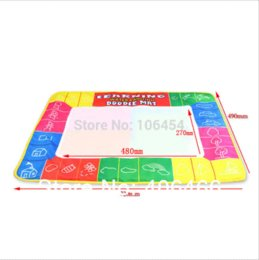 Wholesale Aqua Paint Mat - New Children gift Colorful KidsToy Water Drawing with Magic Pen Aqua 72x49CM Writing Painting Doodle Board Mat
