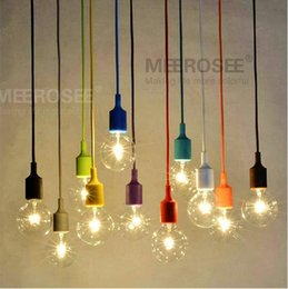 Wholesale Vintage Green Lamps - Colorful Chandelier Light E27 Socket Suspension Drop Lamp Modern Vintage Edison Bulbs Bar Restaurant Bulb not included