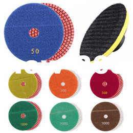 Wholesale Sand Disc - 125mm granite diamond polishing buffing pads sanding discs tools concrete wet use for drills Flexible Floppy Disks