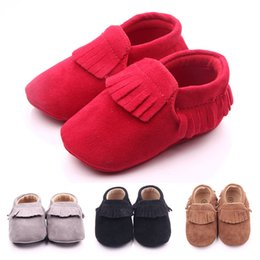 Wholesale Rubber Sole Shoes For Baby - New Arrival Tassel Design Baby Moccasins Shoes for Girl and Boy Slip-on Hard Sole Anti-slip Infant Shoes Wholesale