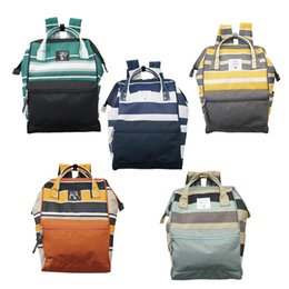 Wholesale Football Handle - Japan Stripe Handle Backpack Campus Rucksack Canvas School Bag Unisex Outdoor Travel Backpack 5 colors