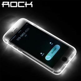 Canada Couverture pour Iphone 7 7 Plus 6 6 s Plus, Rock marque originale Led Flash Light avis d'appel pour les cas de téléphone d'alerte Crystal Clear Shell cheap cover iphone brand rock Offre