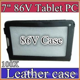 "Tablet 86v on-line-100X 7 polegadas colorido 7 ""flip estojo de couro para Allwinner 2G 86V tablet pc proteger 5-PT"