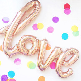 Wholesale Letter Balloons Love - LOVE Letter Foil Balloon Anniversary Wedding Valentines Party Decoration Balloon