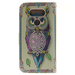 Wholesale Cute Owl Wallets - For LG K10 k8 k7 k4 G4 Stylus Leon G5 V10 Owl tiger Lion cute skin Flip wallet stand Leather case TPU Gel Rubber Card cover cases 1pcs 5pcs