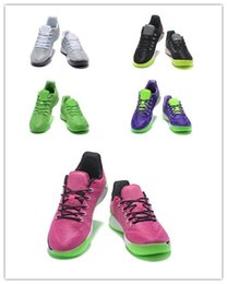 Wholesale Elite Cycling Trainer - 2017 Kobe 12 A.D EP Basketball Shoes Mens Grey Black Green Pink Purple Bryant Kobe sports shoes KB 12s AD Elite Sports Trainers Sneakers