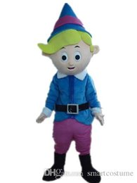 Wholesale Mascot Blue Shirt - SX0727 Good quality a thin little boy mascot costume with blue shirt for adult to wear