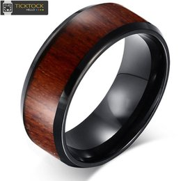Wholesale Tungsten Comfort Fit Wedding Bands - 8mm Wood Lines tungsten steel ring Mens Womens Comfort Fit Wedding Bands Highly Durable Promise