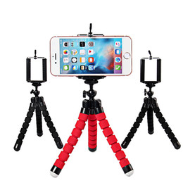 Soportes para cámaras digitales online-Universal Octopus Sponge Flexible MINI Trípode Digital Camera Holder Soporte Clip Para Canon Soporte Montaje Para Iphone 7 6S 8 Plus Gorrila Trípodes