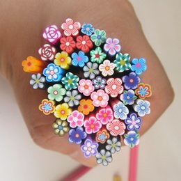 Wholesale Nail Design Sticks - Wholesale- Colorful 3d Nail Art 3d Flower Fimo Canes Rods Sticks New Arrival Cute Fashion Polymer Clay Nails Design Decorations DIY F006