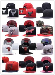 Wholesale New Mixed Printing Color - New Caps Basketball Snapback Leather Hats White Color Cap Football Baseball Team Hats Mix Match Order All Caps Top Quality Hat Wholesale