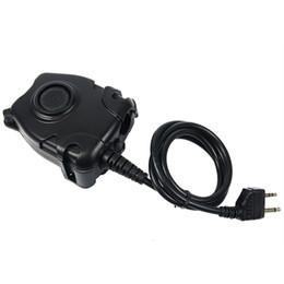 Wholesale Waterproof Walkie - 5 pcs Waterproof PTT Cable Black for Walkie Talkie GXT LXT Alan Midland Line Plug for Z Tactical Headset J6512A