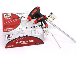 Wholesale Hex Handle - Wholesale-free shipping roller skating T-handle hex key 4mm 2 pieces   lot CR-V material