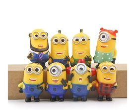Wholesale Despicable I - 8 PCS set Furnishing articles god steal evade glue fair son dad mean yellow hands I do wholesale doll puppet in a box