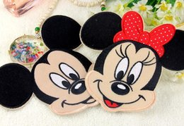 Wholesale Embroidery Butterfly Patch - 2016 Red Butterfly Minnie Mickey Iron On Embroidered Patches For Clothes Cartoon Badge Garment Appliques DIY Accessory free shipping HY1113