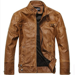 Wholesale Leather Jacket New Arrival - New Arrival Leather Jackets Men's jacket male Outwear Men's Coats Spring & Autumn PU Jacket Coat