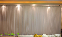 Wholesale backdrop lighting for weddings - 3m*6m white backdrop for any colors Party Curtain rainbow backdrop wedding Stage Performance Background Drape Wall valane backcloth