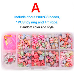 Wholesale Puzzle Games Girls - Wholesale-Minitudou Children Girl Colorful Perler Hama Beads Fashion Toys For Girl DIY 3D Puzzle Developing Intelligence Game For Kids