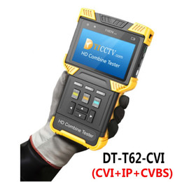Wholesale Cctv Camera Sd - free shipping DT-T62-CVI 4.0 Inch HD Combine Tester IP Camera CCTV Tester Support Analog SD+ CVI + IPC With POE TDR Test ann