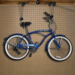 Caso de 2 Bike Lifts Hanger Ceiling Garage bicicleta extrator de armazenamento de montagem de