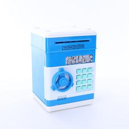 Wholesale Coin Bank Atm - Piggy Bank Cartoon Safety Box Piggy Bank Mini Money Saving Box Password Locks Coins Cash ATM Deposit Machine Christmas Gift