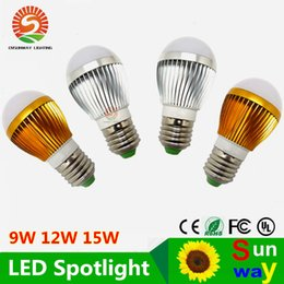 Wholesale e27 led high power spotlight - 9 W 12 W 15 W E26 E27 Adjustable Ball Bubble Lamp AC110-240v High Power Light Globe LED light