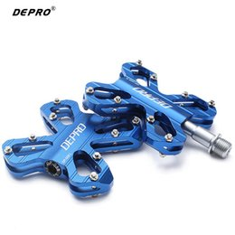 Wholesale Professional Bikes - Wholesale-2016 Hot Sale Aluminum Alloy Pedals Bike Accessories Sealed Bearing Road MTB Pedal Professional Racing Cycling Bicycle Pedals