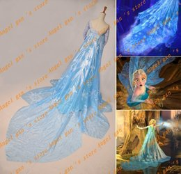 Wholesale Adult Princess Cape - Wholesale-Free shipping New Arrival Custom Made snow queen Princess elsa cape Cosplay Costume for adult