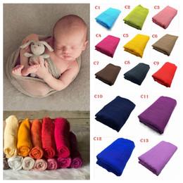 Wholesale Toddlers Bathing - Newborn Swaddle Baby Wrap Infant Blankets Toddler Cotton Linen Swaddling Nursery Bedding Photo Prop Parisarc Bathing Towels 300 PCS YYA421