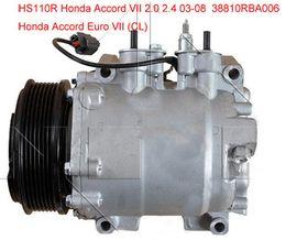 Honda ac kompressoren online-HS-110R ac Kompressor für Honda Accord Kombiwagen Euro VII (CL) 2003-2008 38800RAAA01 38810RBA006