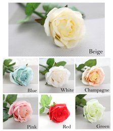 Wholesale Latex Flower Wedding Bouquets - 10pcs lot Decor Rose Artificial Flowers Silk Flowers Floral Latex Real Touch Rose Wedding Bouquet Home Party Design Flowers