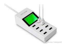 Canada DHL LED Écran USB Chargeur Dock Mur 8 Ports UE Plug Mobile Téléphone Adaptateur Pour iPhone 5 6 iPad Samsung De Charge Dispositif En Gros Offre