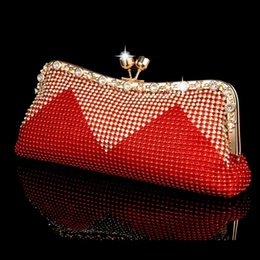 Wholesale Shell Wedding Bag - Wholesale-NEW Women Clutch Bags Beaded Evening Bags Pearl Diamonds Handbags Wedding Bridesmaids Bridal Party Feast Bag With Chains