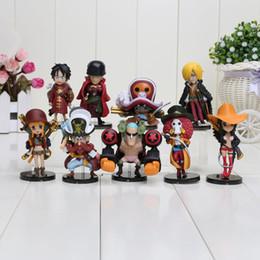 Wholesale Mini Figure One Piece - 9pcs set Anime One Piece Action Figures Cut One Piece Film Z Mini Figure Toys Dolls approx 8CM