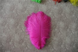 wedding decoration hot pink Australia - Free Shipping hot pink Ostrich Feather plume 5-8 inch for wedding Centerpiece Wedding Decoration table centerpiece