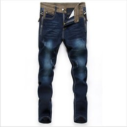 Wholesale Class Clothes Men - Wholesale-Brand Clothing For Free Men Jeans Driver Overalls Men Jeans Are Long And Thin Thin Class Guide Jeans Men Free Shipping