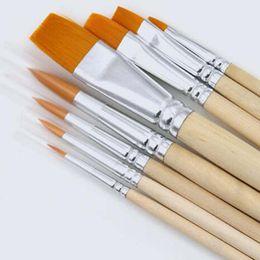 Wholesale Gouache Paint Brush - New 8Pcs Set Fine Hand-painted Pen Drawing Art Pen Paint Nylon Brush Art Supplies Student Stationery Gouache Watercolor