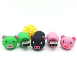 Wholesale Usb Pigs - USB Flash Drive Pen Drive Memory Stick 128GB 64GB 32GB 16GB 8GB 4GB Cartoon Pig Pendrive Storage Micro USB Memory Stick U Disk