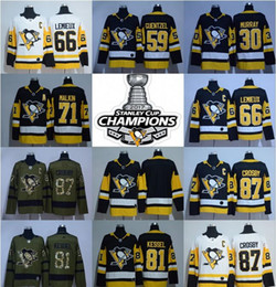 Wholesale Red Mario - 2017 18 Champions Pittsburgh Penguins Jerseys 87 Sidney Crosby Kris Letang Mario Lemieux Matt Murry Evgeni Malkin Phil Kessel Jake Guentzel
