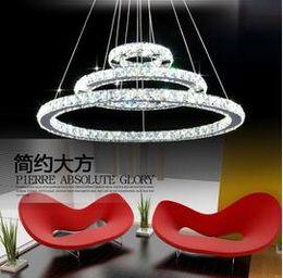 Wholesale Cheap Bedroom Lamps - Cheap Factory Price!!! LED Lustre Crystal Chandelier Lighting Modern Dining Room Pendant Lamp Living Room Creative Design Pendant Light DHL