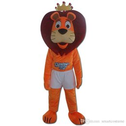 Wholesale Orange Lion Costume - orange high quality lion mascot costume for adult to wear