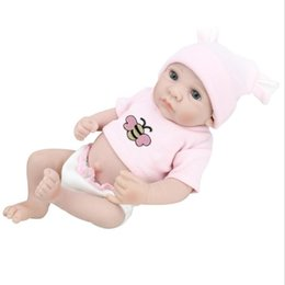 Wholesale Realistic Girl Model - 28cm High Handmade Realistic Reborn Doll Real Looking Newborn Baby Vinyl Silicone Toy Kids Growth Partners