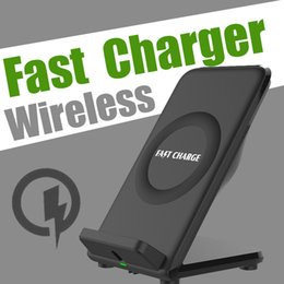 Wholesale Docks For Iphone - 10W Quick Charging Docks With Cooling Fan Qi Wireless Fast Charger 5V2A Dual-Coils For Samsung S8 Note 8 Iphone x 8 Qi-enabled SmartPhones