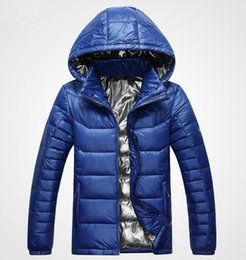 Wholesale Winter Mens Hooded - Classic Brand Men Winter Outdoor white Duck Down Jacket man casual hooded Down Coat outerwear mens warm jackets Parkas M-3XL