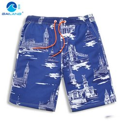 Wholesale Sexy Mens Gym Shorts - Wholesale-Fashion mens sexy running sports shorts boxer brand gym beach Jogging gay wear plus size loose beachwear male board shorts